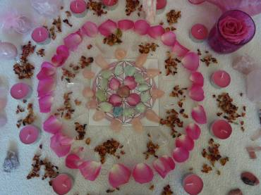 Rose Quartz Crystal Grid