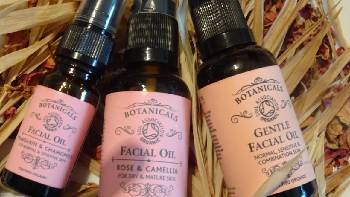 Facial Massage and Botanicals Skin Care Products