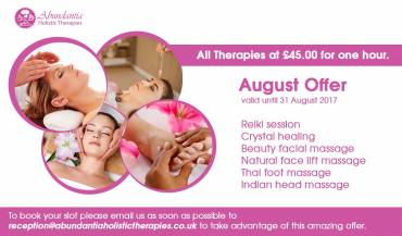 Take Advantage of Our August Offer